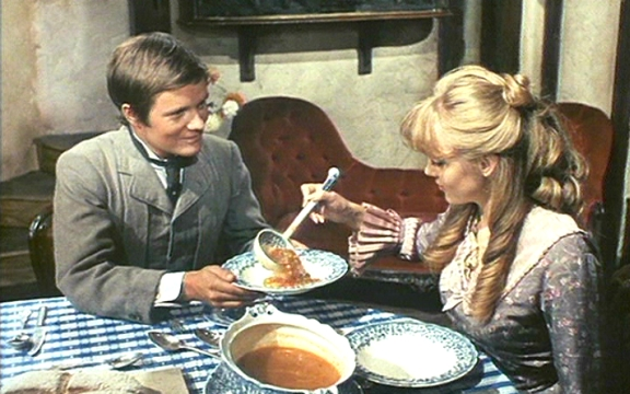"""Yes, I'd love to eat your muffin...er...I mean, I'd love a muffin with this soup."""