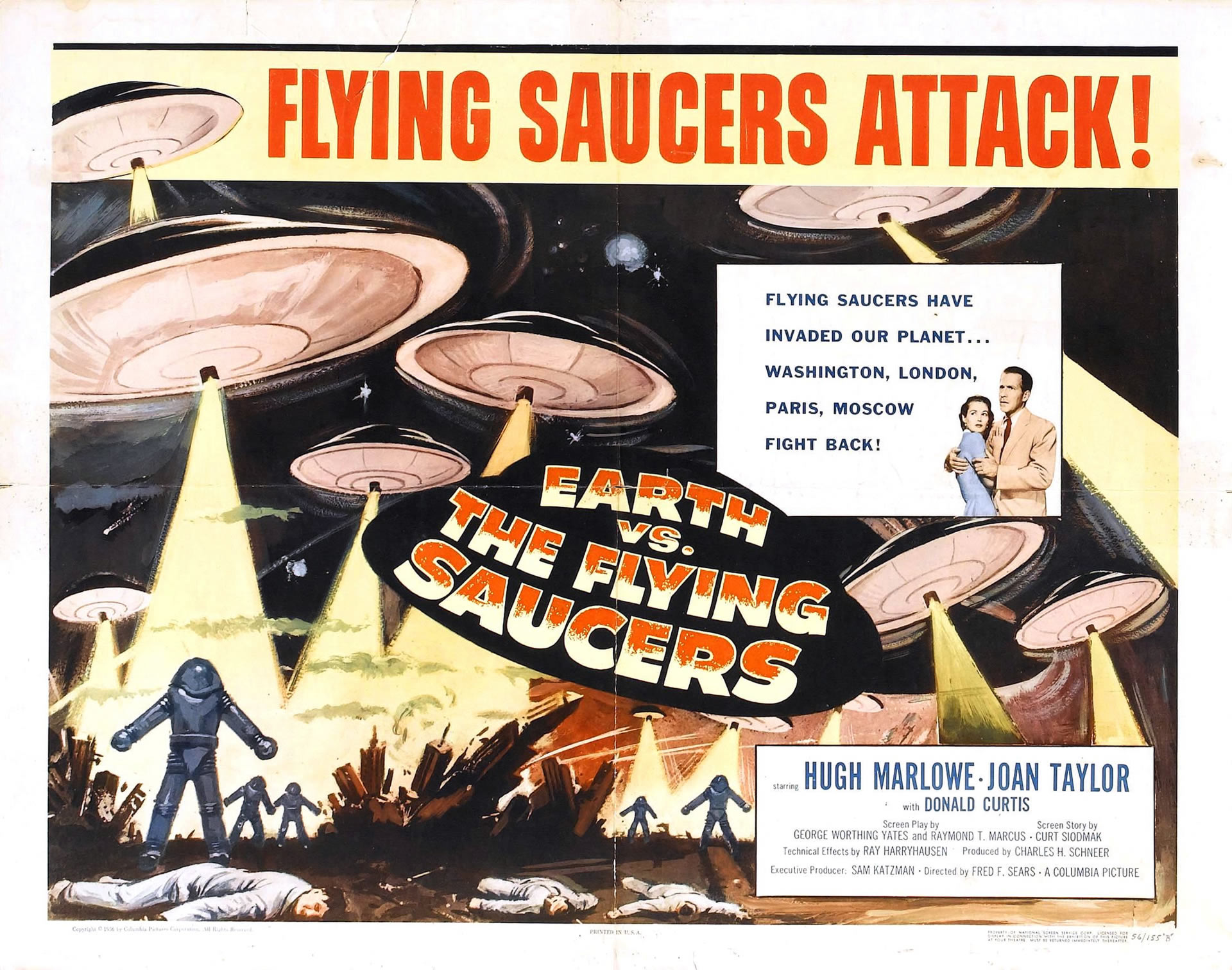 Earth vs the flying saucers 1956 83 minutes