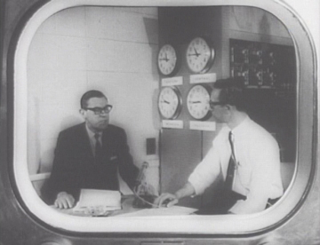 Archival footage from the very first Larry King show.